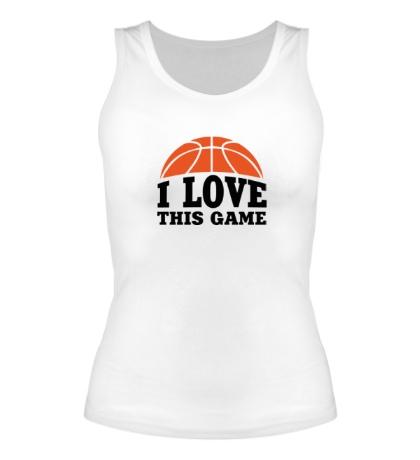 Женская майка I love this Basketball