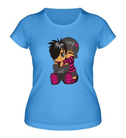 Женская футболка Эмо двое
