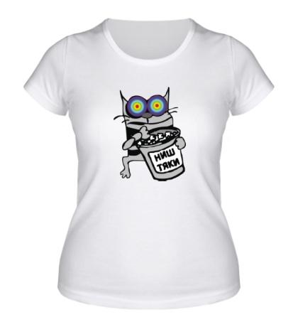 Женская футболка Котэ с ништяками