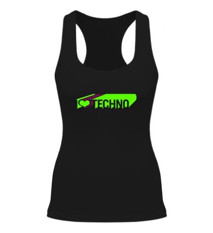 Женская борцовка I love Techno Glow
