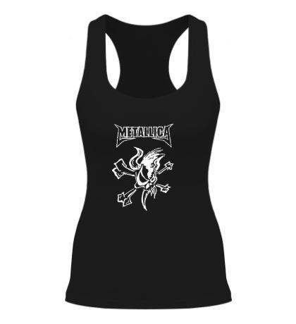 Женская борцовка Metallica Skull