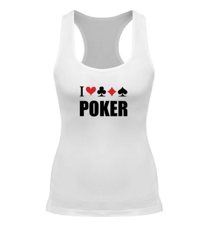 Женская борцовка I love poker