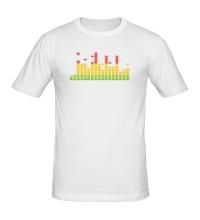 Мужская футболка Цветной эквалайзер