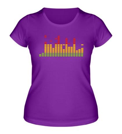Женская футболка Цветной эквалайзер
