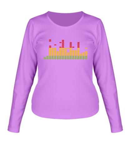Женский лонгслив «Цветной эквалайзер»