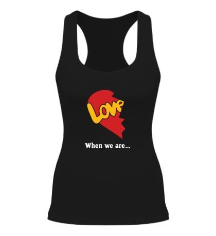 Женская борцовка Сердце love is