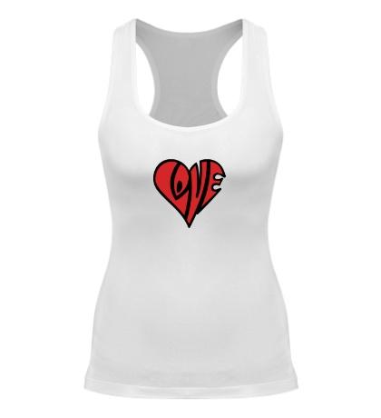 Женская борцовка Love сердце