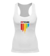 Женская борцовка I love Techno Colors
