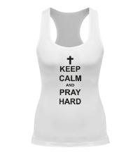 Женская борцовка Keep Calm & Pray Hard