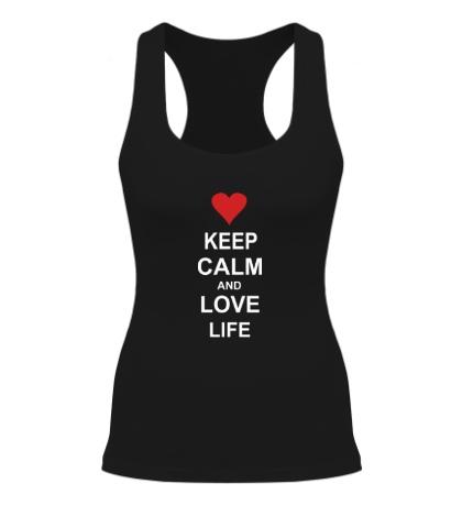 Женская борцовка Keep calm and love life