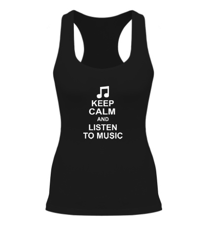 Женская борцовка Keep calm and listen to music