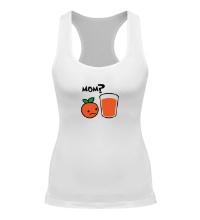 Женская борцовка Грустный апельсин
