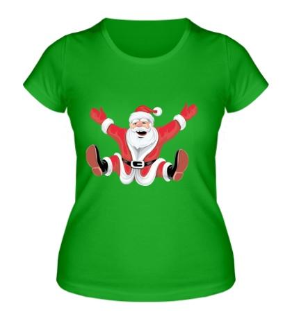 Женская футболка Санта Клаус