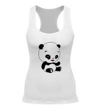 Женская борцовка Панда смеется