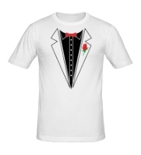 Мужская футболка Смокинг с бабочкой