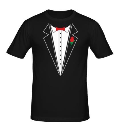 Мужская футболка «Смокинг с бабочкой»