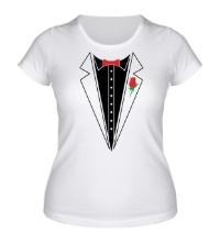 Женская футболка Смокинг с бабочкой