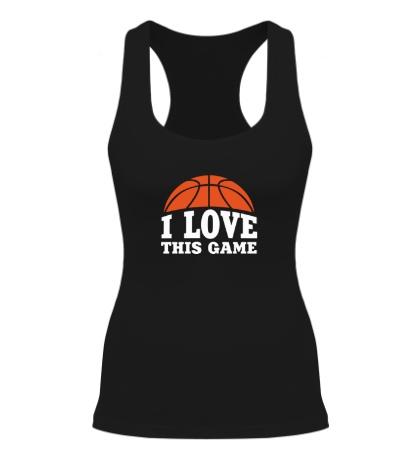 Женская борцовка I love this Basketball