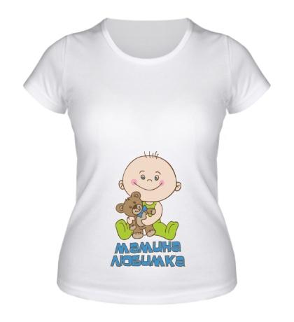 Женская футболка Мамина любимка