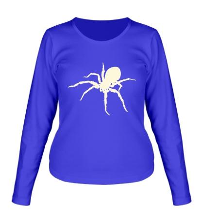 Женский лонгслив Ядовитый паук, свет
