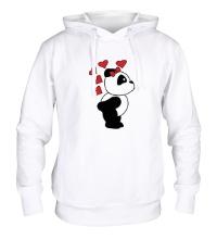 Толстовка с капюшоном Поцелуй панды девочки