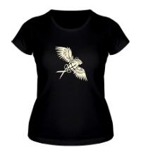 Женская футболка Граната с крыльями glow