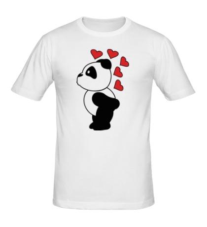 Мужская футболка «Поцелуй панды мальчика»