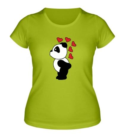Женская футболка Поцелуй панды мальчика
