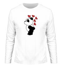 Мужской лонгслив Поцелуй панды мальчика