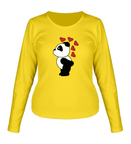 Женский лонгслив «Поцелуй панды мальчика»