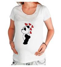 Футболка для беременной Поцелуй панды мальчика