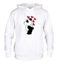 Толстовка с капюшоном Поцелуй панды мальчика