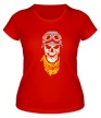 Женская футболка «Череп байкера, свет» - Фото 1