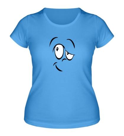 Женская футболка «Смайл сомневается»