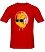 Мужская футболка «Сердце в наушниках светится» - Фото 1