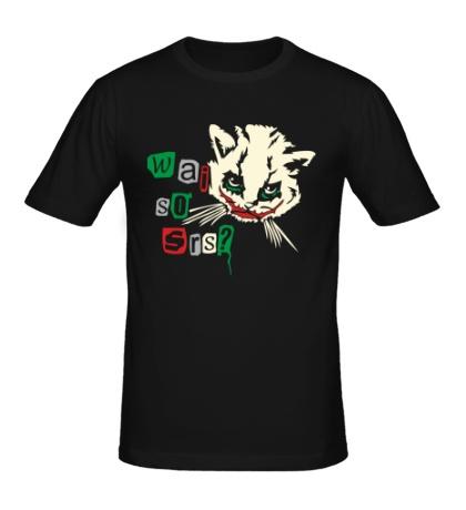 Мужская футболка «Кот Джокер светится»