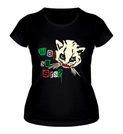 Женская футболка Кот Джокер светится