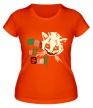 Женская футболка «Кот Джокер светится» - Фото 1