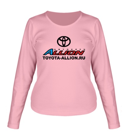 Женский лонгслив «Toyota Allion Club»