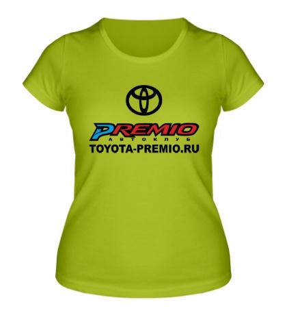 Женская футболка Toyota Premio Club