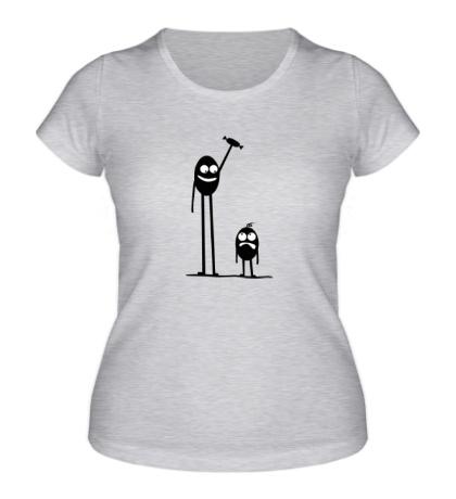 Женская футболка Попробуй отбери