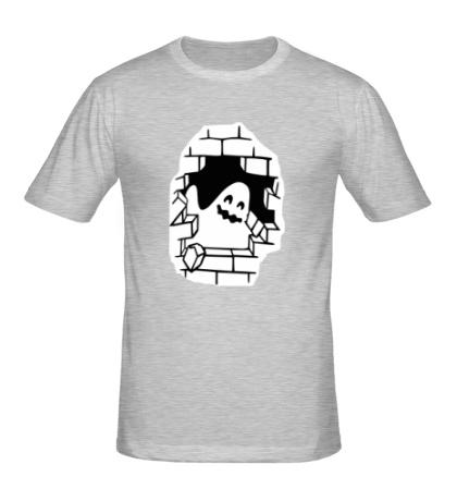 Мужская футболка Привидение в стене