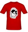 Мужская футболка «Привидение в стене» - Фото 1