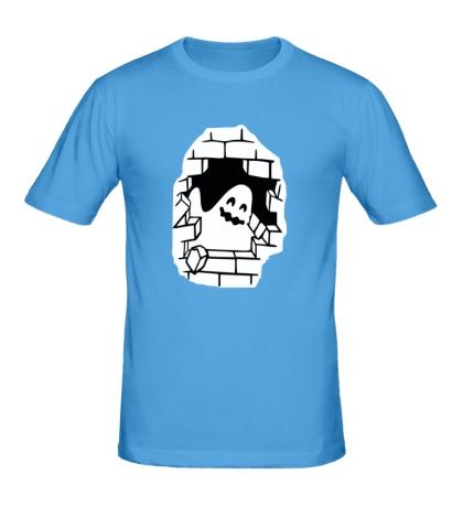 Мужская футболка «Привидение в стене»