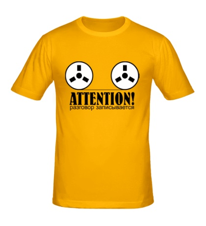 Мужская футболка Разговор записывается