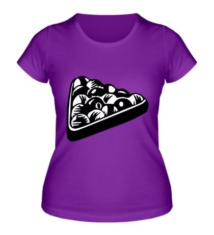 Женская футболка «Бильярдные шары»