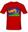 Мужская футболка «Love is...» - Фото 1