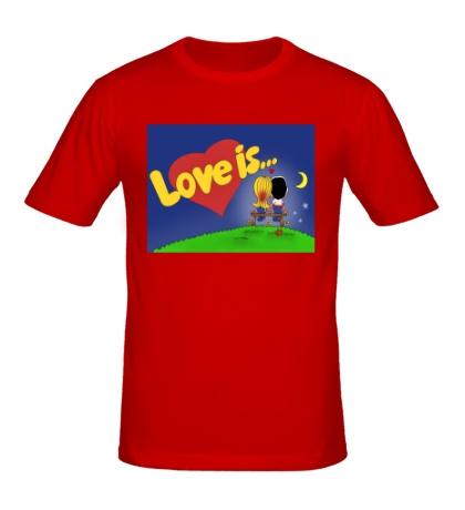 Мужская футболка «Love is...»