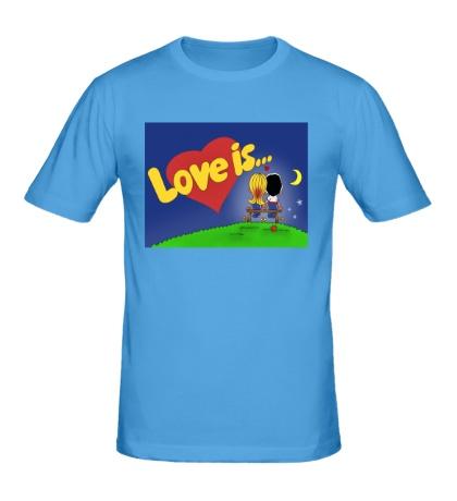 Мужская футболка Love is...