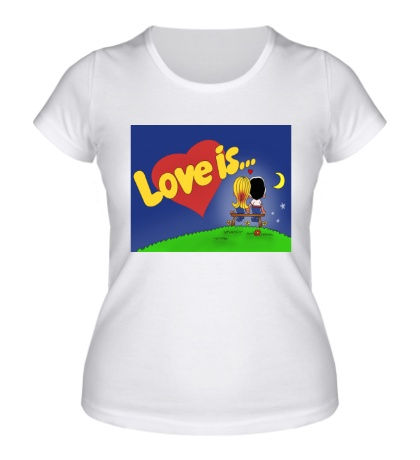 Женская футболка Love is...